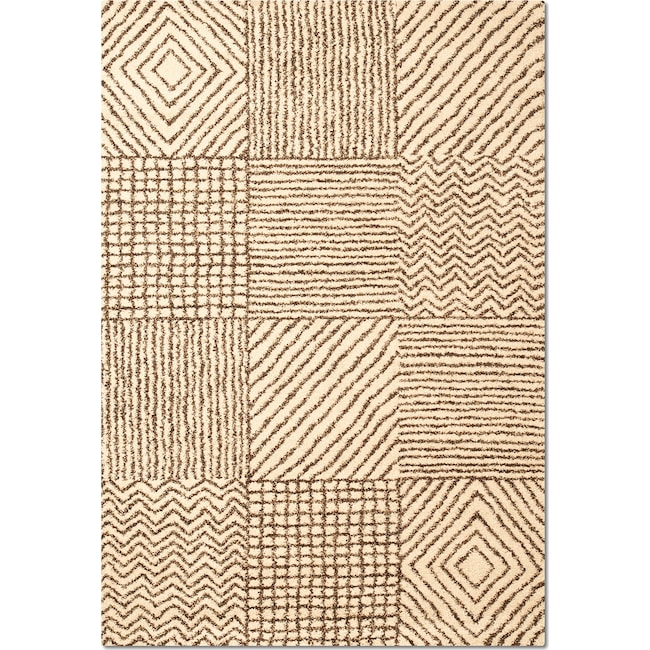 Rugs - Granada Sierra 5' x 8' Area Rug - Ivory and Chocolate