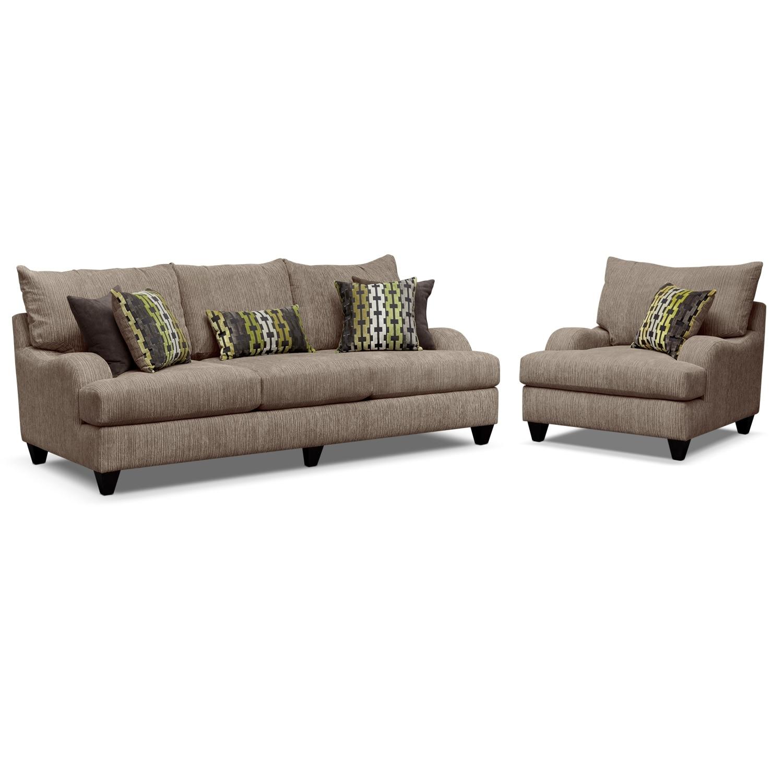 Living Room Furniture - Santa Monica 2 Pc. Living Room w/Chair