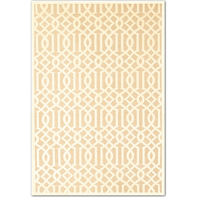 Rugs - Napa Baron 8' x 10' Area Rug - Ivory and Beige