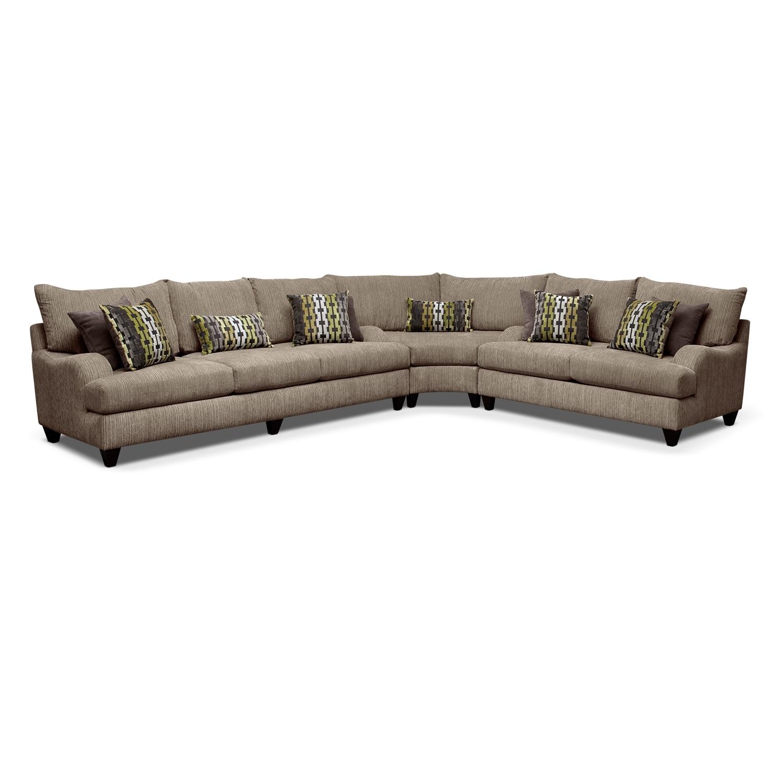 Living Room Furniture - Santa Monica II 3-Piece Sectional