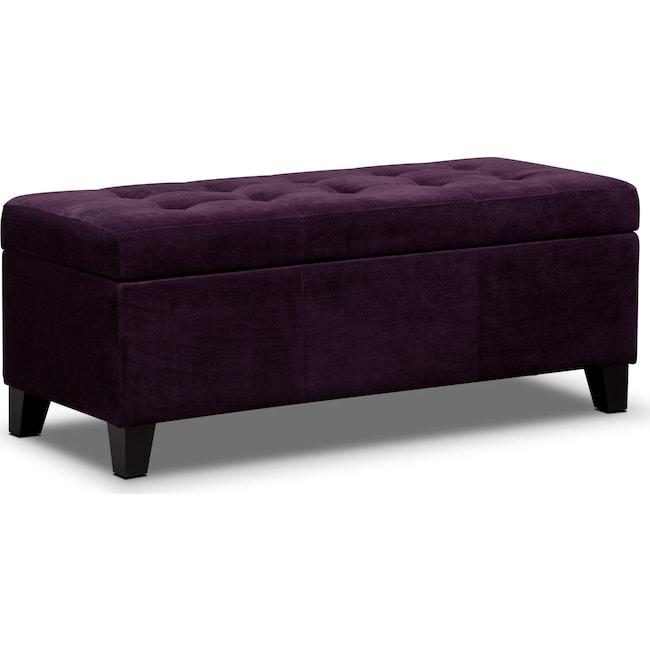 Kids Furniture - Valerie Storage Bench - Purple