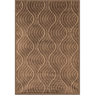 Napa Bale 8' x 10' Area Rug - Dark Brown and Beige