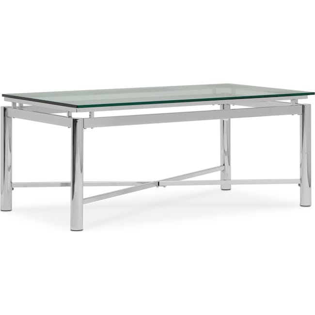 Accent and Occasional Furniture - Nova Coffee Table - Silver