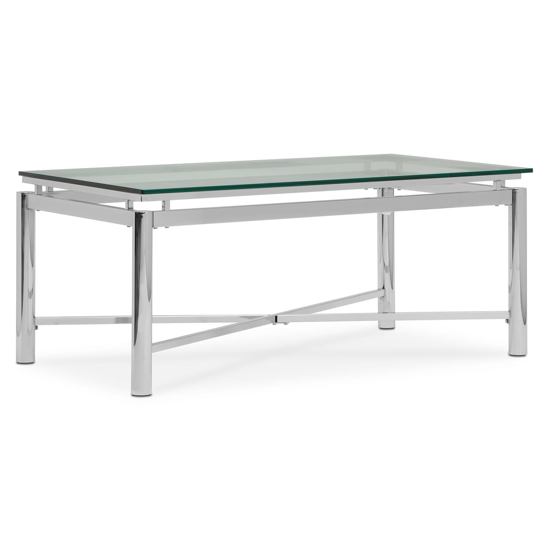 Nova Cocktail Table   Silver