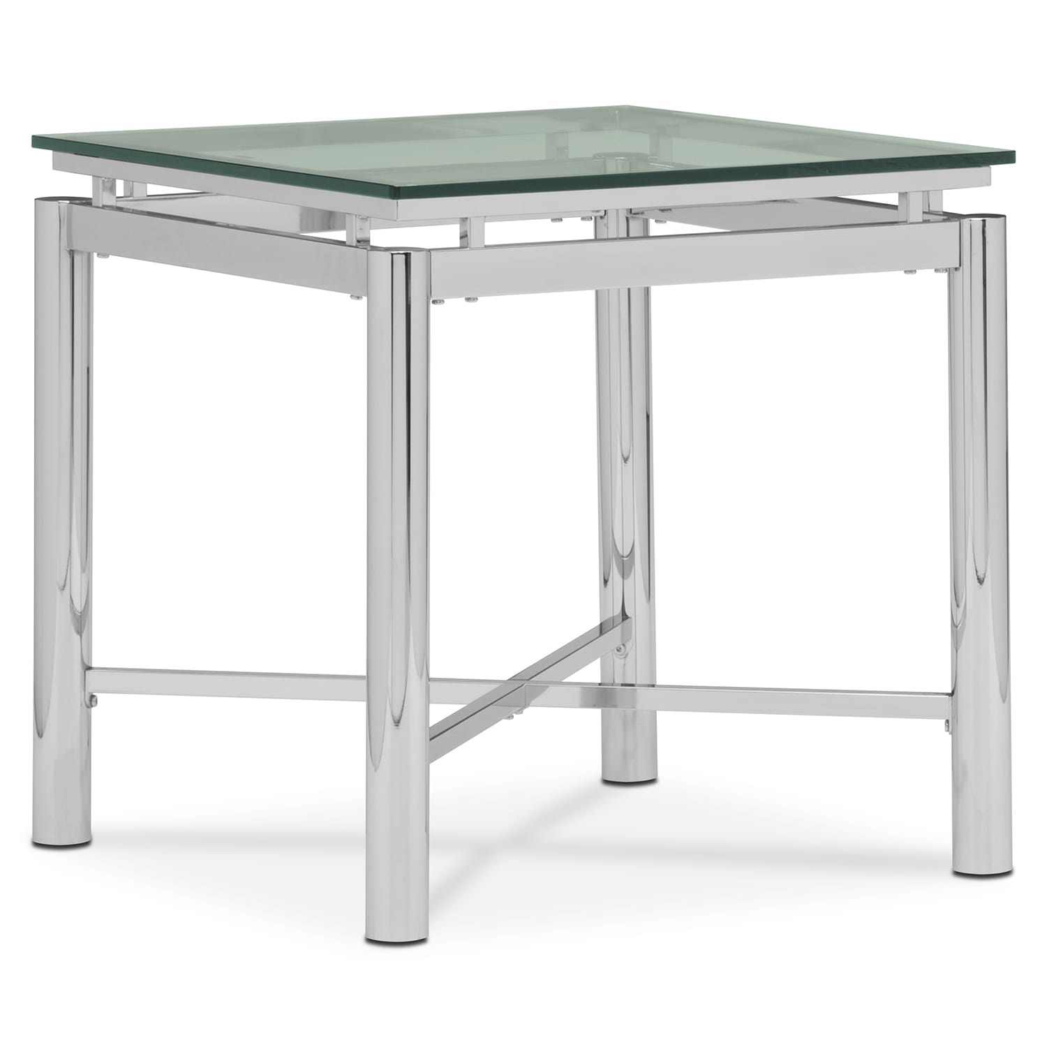 Accent and Occasional Furniture - Nova End Table - Silver