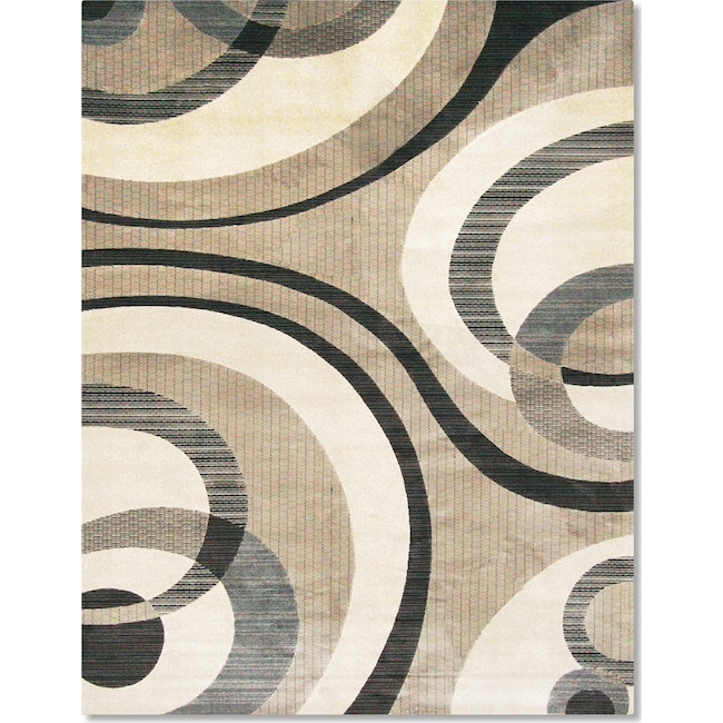 Rugs - Sonoma Bennett 5' x 8' Area Rug - Blue and Beige