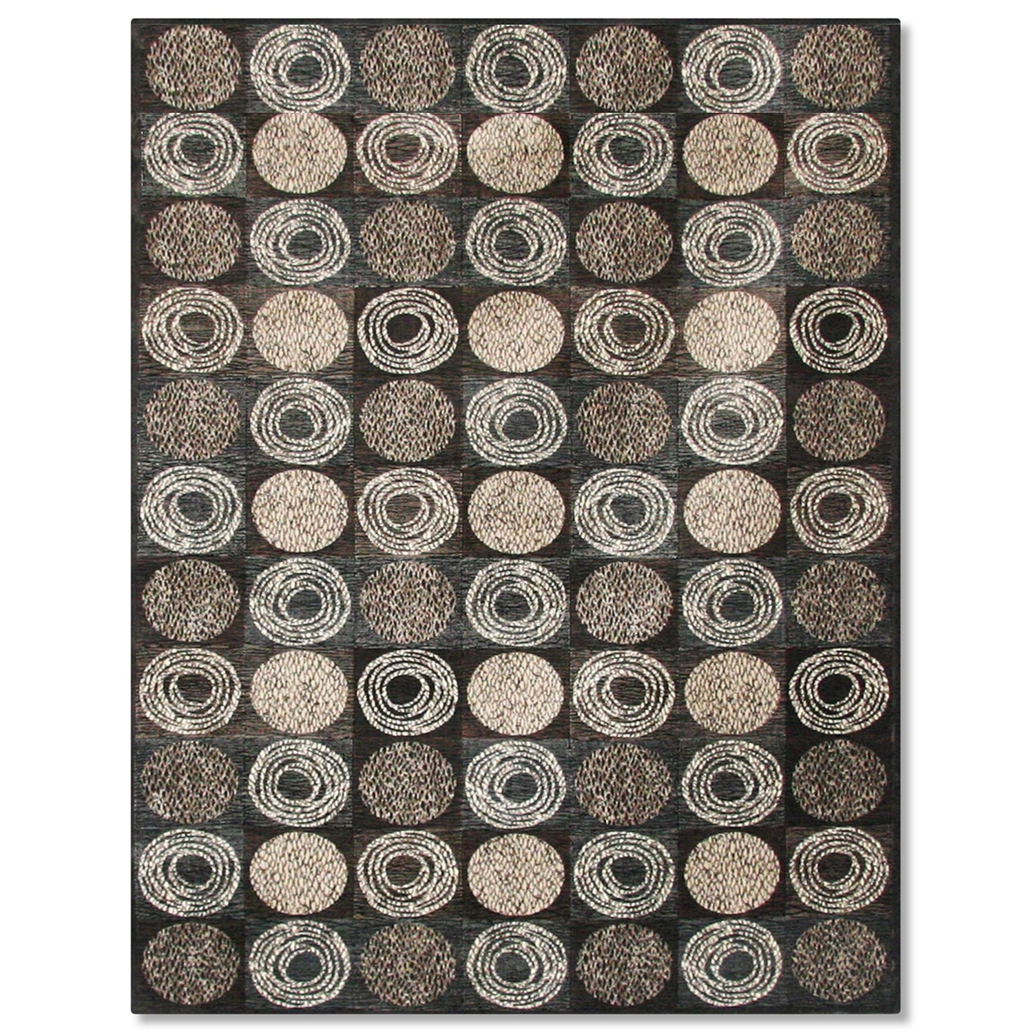 Rugs - Sonoma Laurel Area Rug - Gray and Ivory