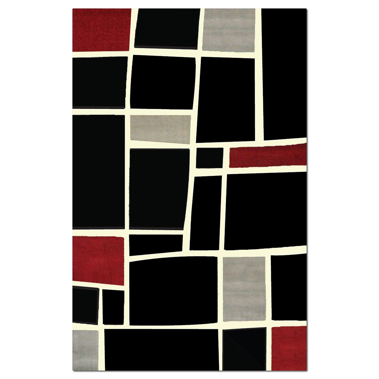 Terra Squares 5u0027 X 8u0027 Area Rug   Black And Gray Good Ideas