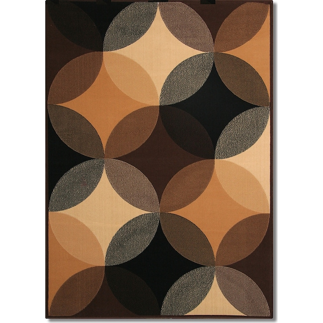 Rugs - Terra Spheres 5' x 8' Area Rug - Black and Beige