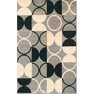 Terra Luna 5' x 8' Area Rug - Black and White