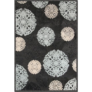 Napa Snowflakes Area Rug - Blue and Ivory