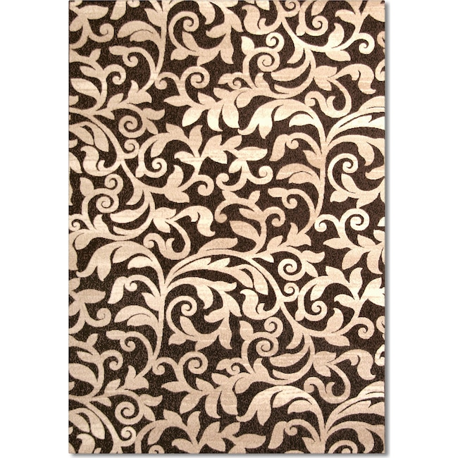 Rugs - Terra Vale 8' x 10' Area Rug - Chocolate and Beige