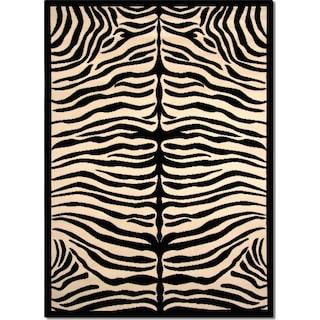 Terra Zebra 8' x 10' Area Rug - Black and White