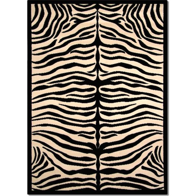 Rugs - Terra Zebra 8' x 10' Area Rug - Black and White