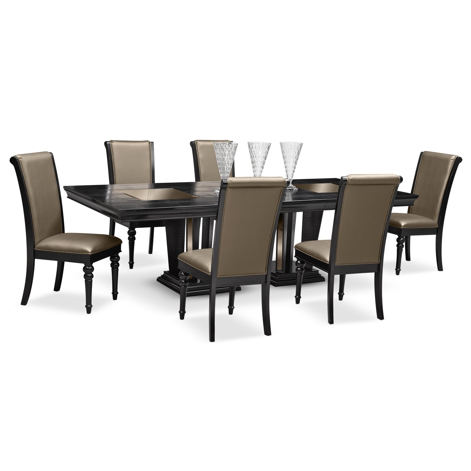 paradiso dining room 7 pc dining room value city furniture