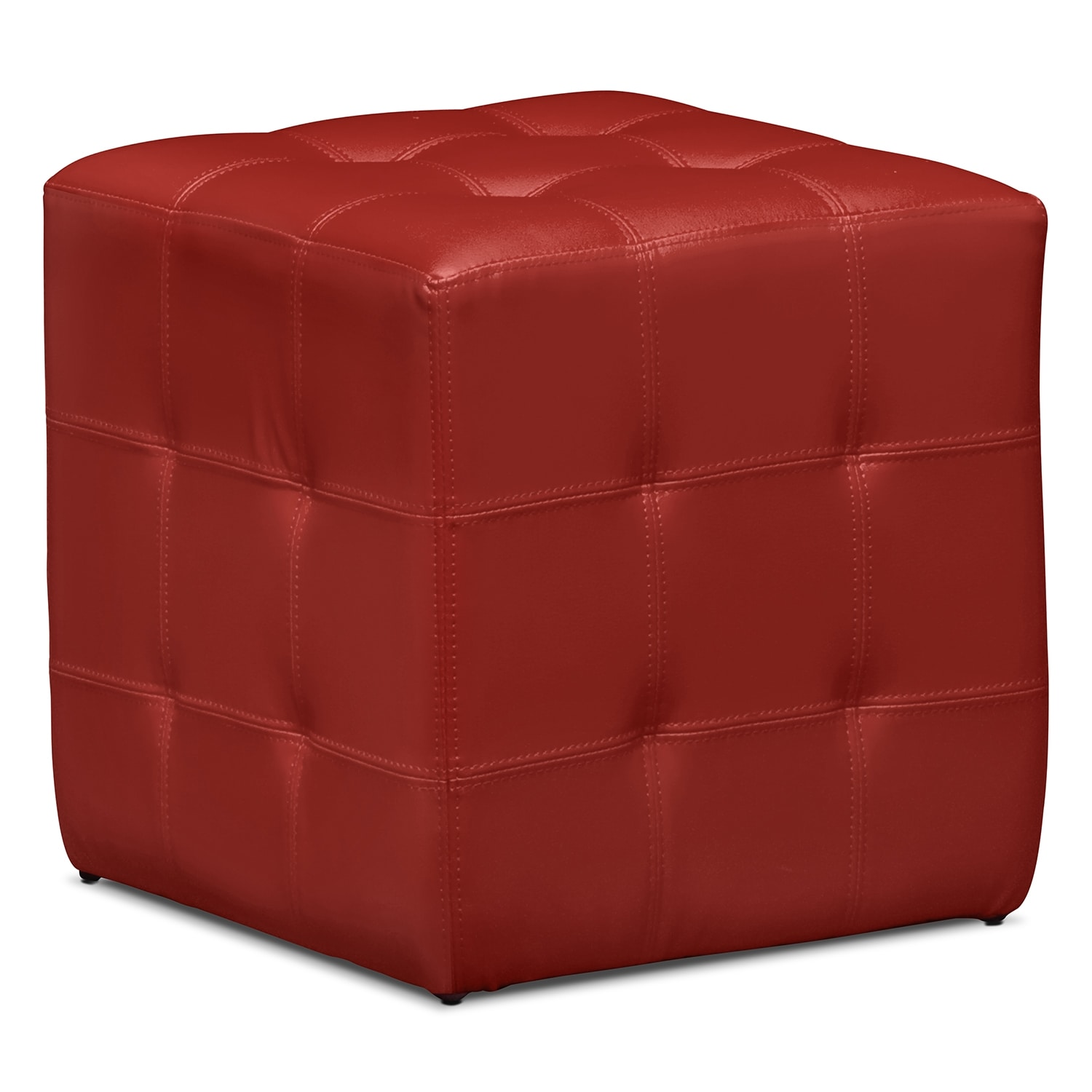 Dylan Cube Ottoman Red Value City Furniture And Mattresses