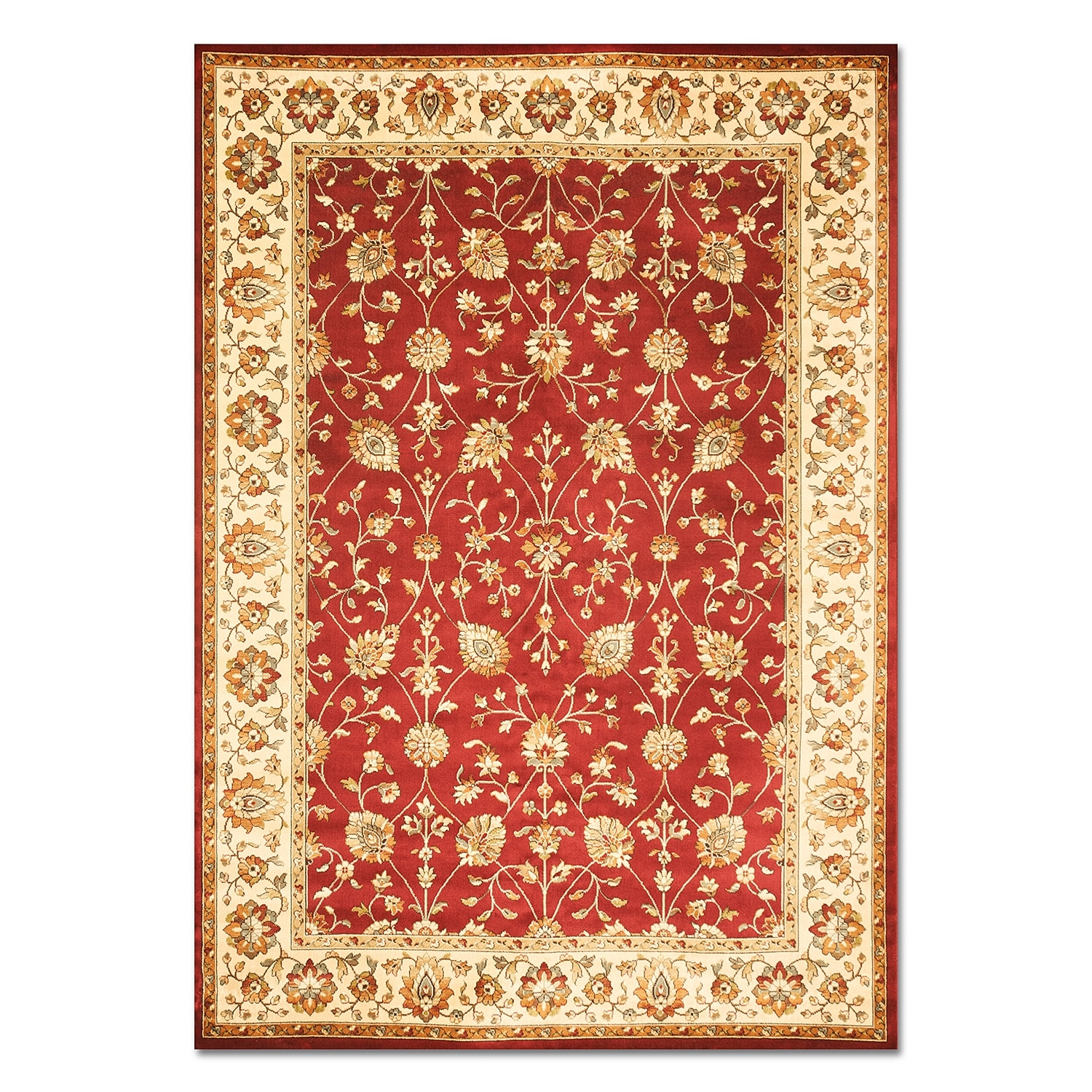 sonoma noble 8 39 x 10 39 area rug red and beige value city furniture. Black Bedroom Furniture Sets. Home Design Ideas