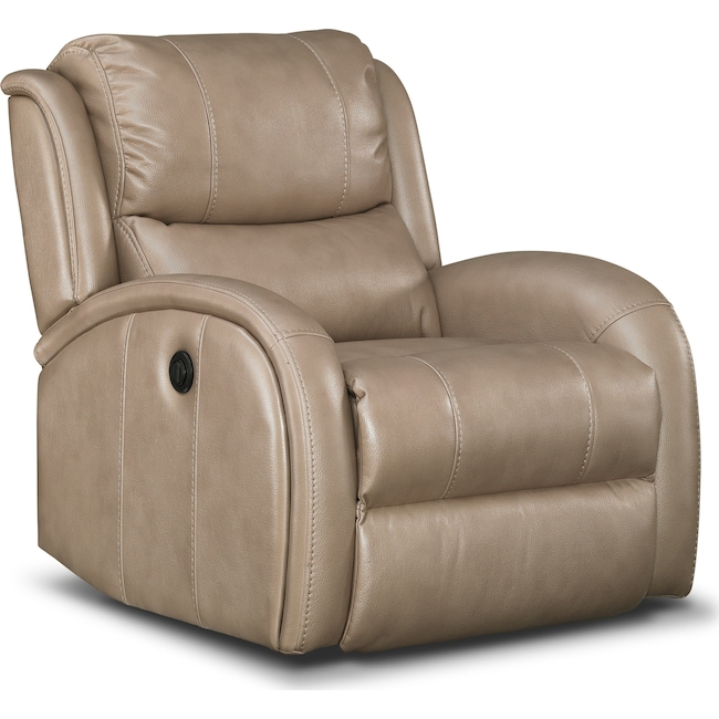 Living Room Furniture - Corsica Power Recliner - Taupe