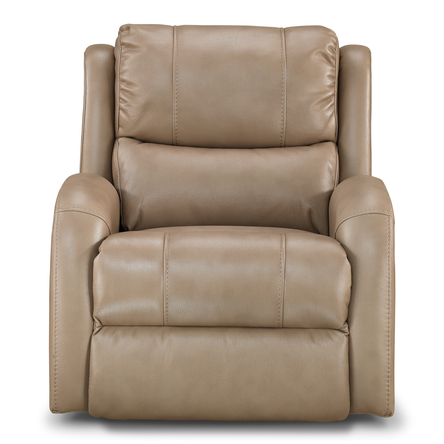 Value City Furniture Recliners: Corsica Power Recliner - Taupe