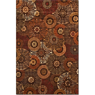 Sonoma Tyler Area Rug - Red and Chocolate