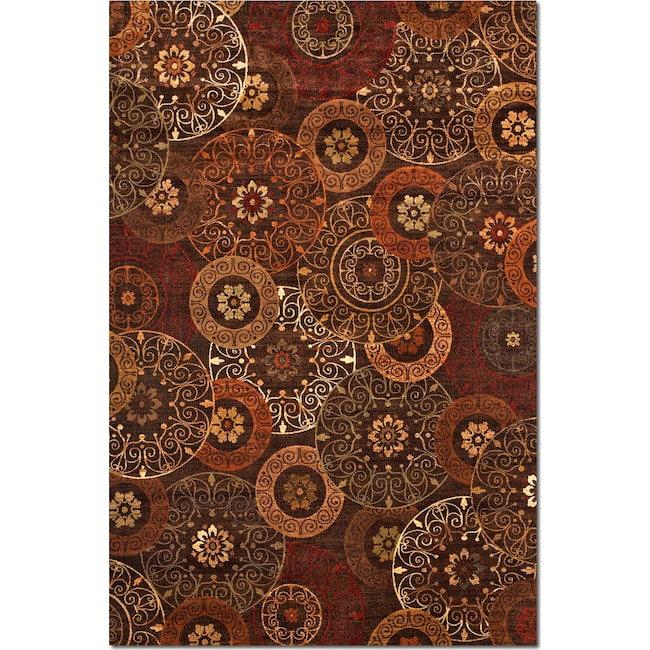 Rugs - Sonoma Tyler 8' x 10' Area Rug - Red and Chocolate