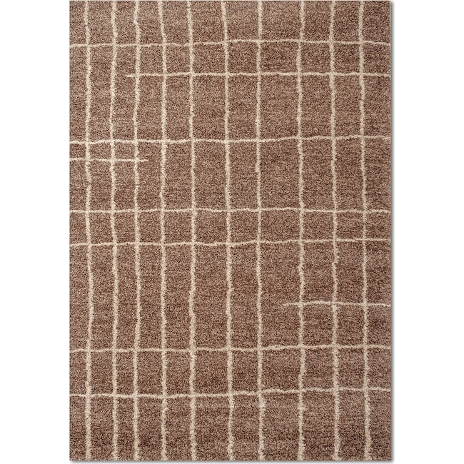 Rugs - Granada Camille 8' x 10' Area Rug - Brown and Ivory
