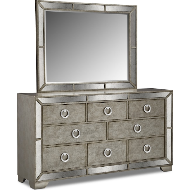 Bedroom Furniture - Angelina Dresser and Mirror