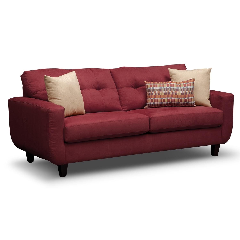 Living Room Furniture - West Village Red Sofa