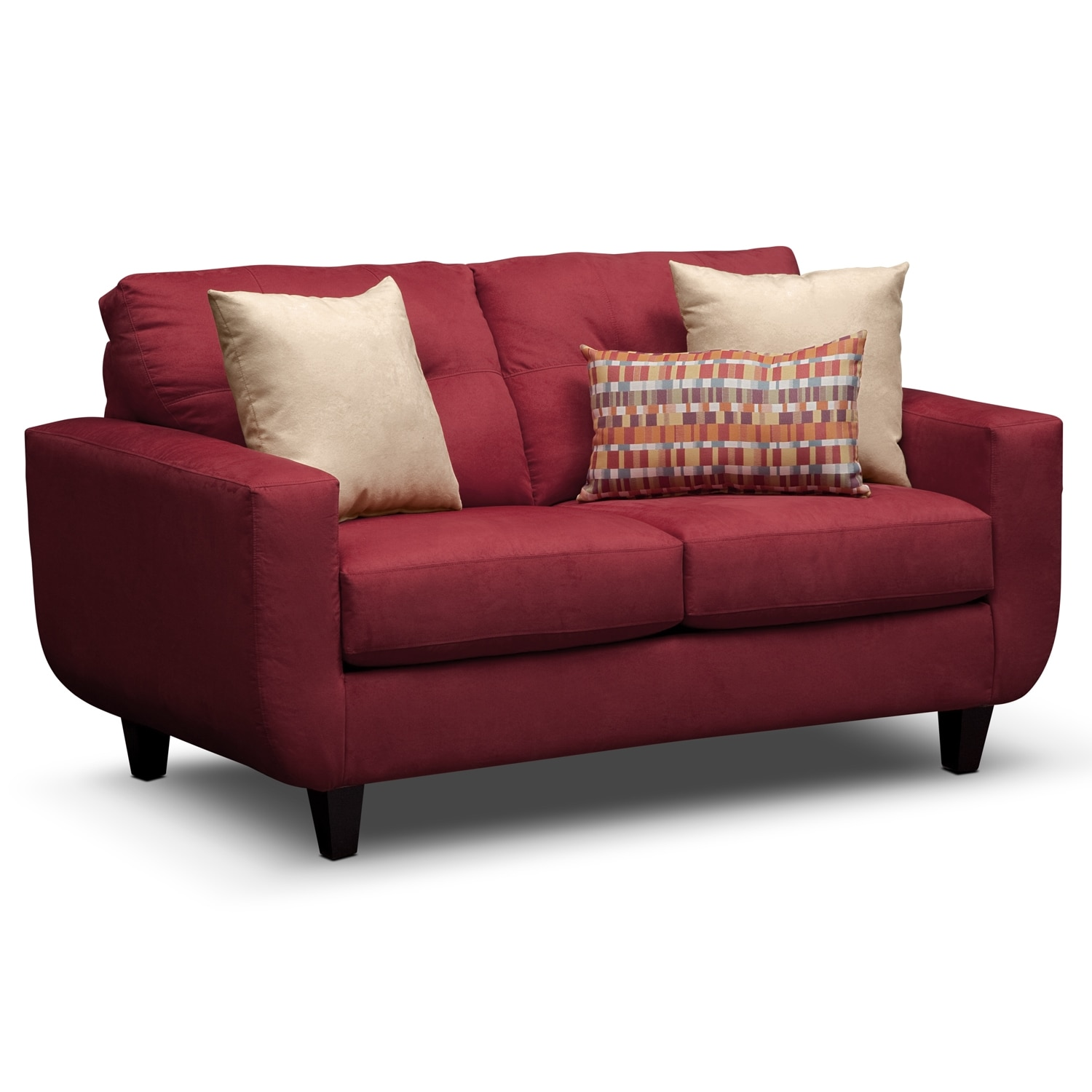Living Room Furniture - West Village Loveseat - Red