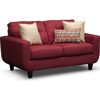 West Village Loveseat - Red
