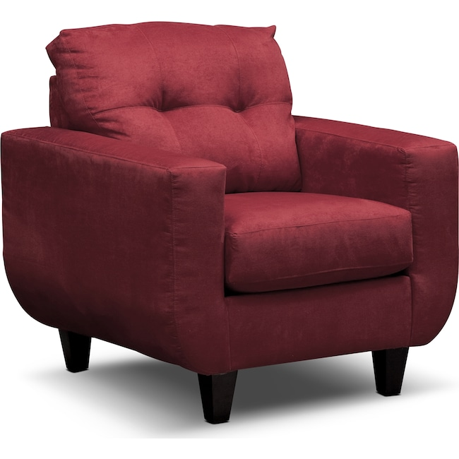Living Room Furniture - West Village Chair - Red