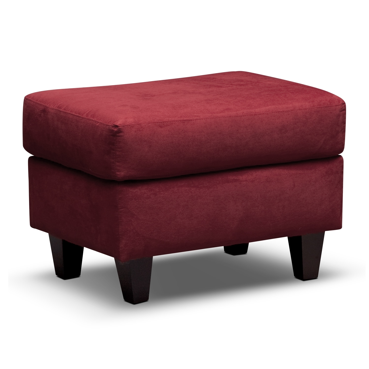 Living Room Furniture - West Village Ottoman - Red