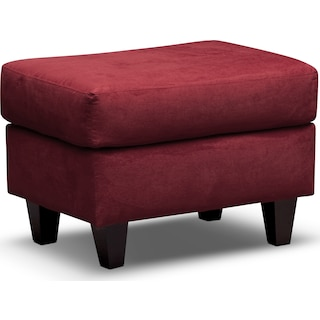 West Village Ottoman - Red
