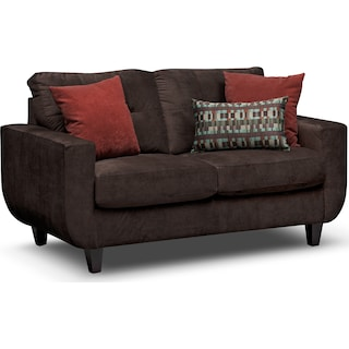 West Village Loveseat - Chocolate