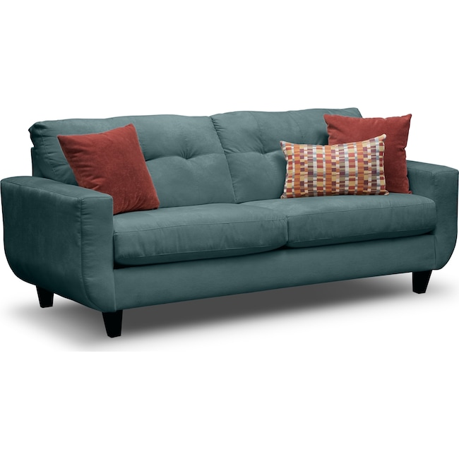 Living Room Furniture - West Village Sofa - Blue