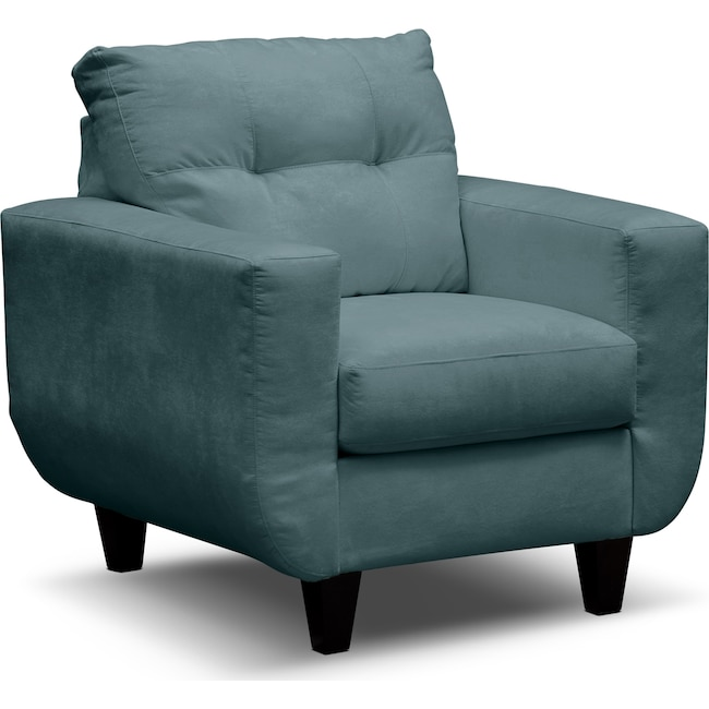 Living Room Furniture - West Village Chair - Blue