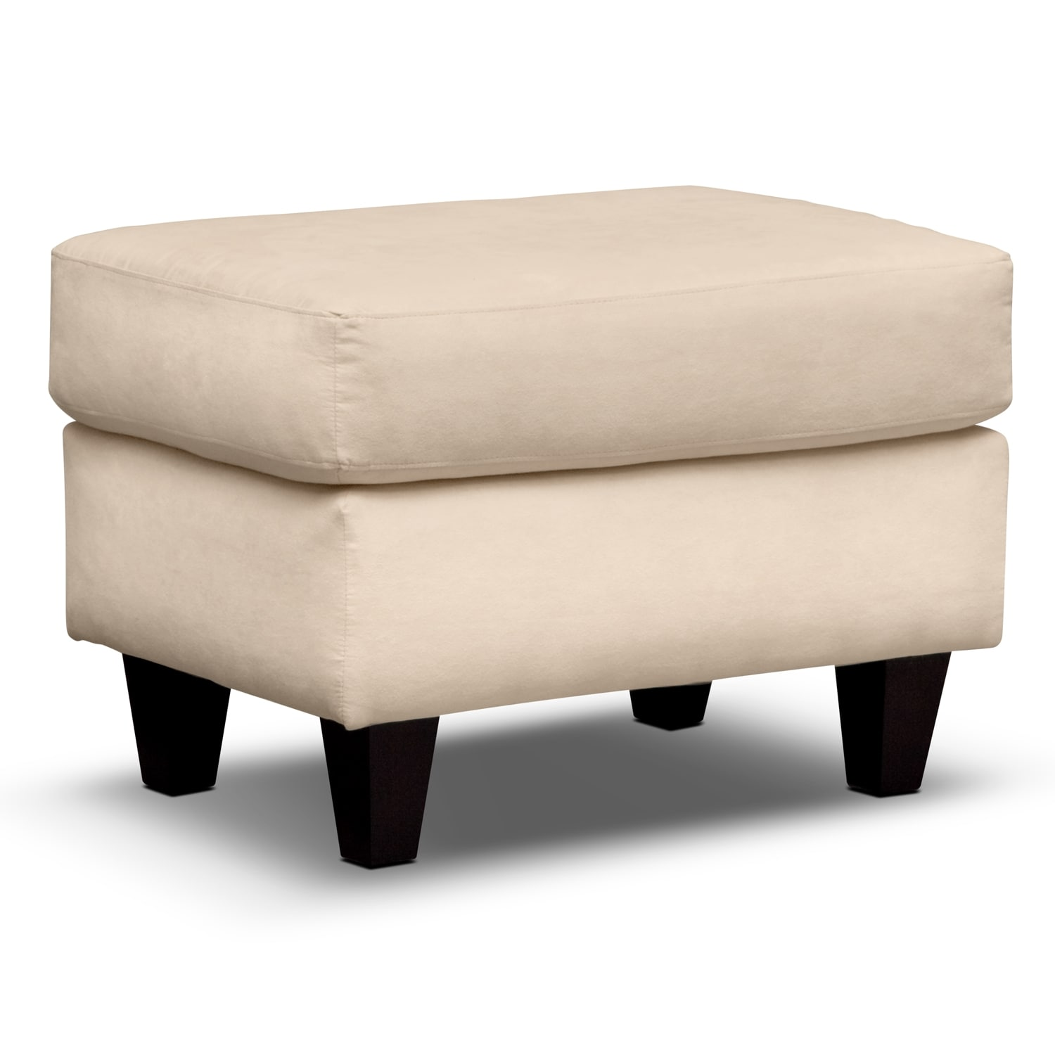 Living Room Furniture - West Village Ottoman - Cream