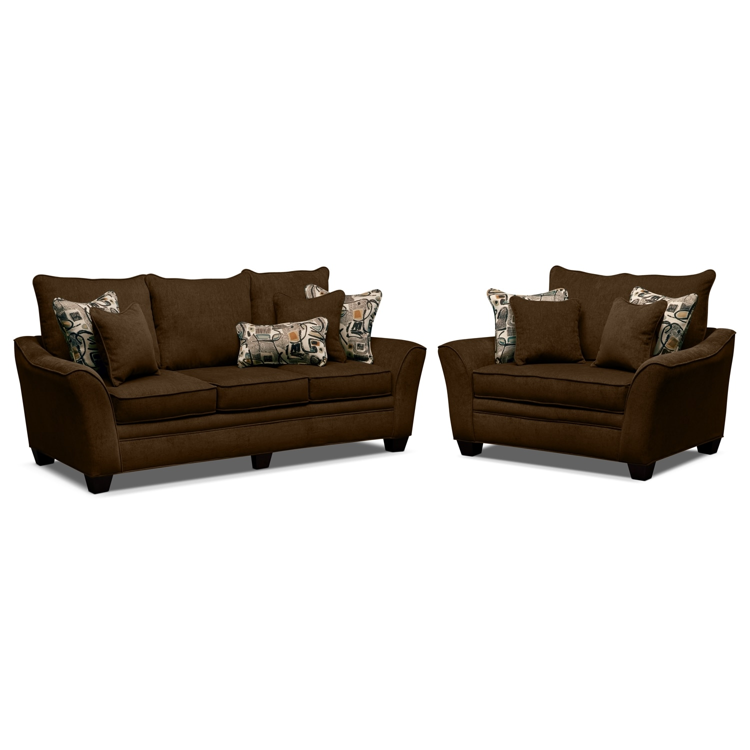 Living Room Furniture - Mandalay 2 Pc. Living Room w/Chair