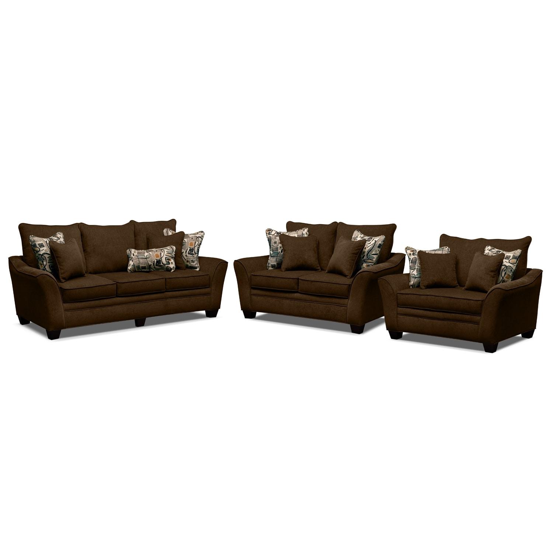 Living Room Furniture - Mandalay 3 Pc. Living Room