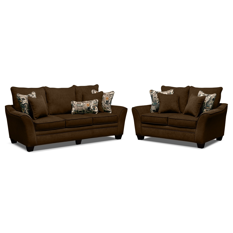 Living Room Furniture - Mandalay 2 Pc. Living Room