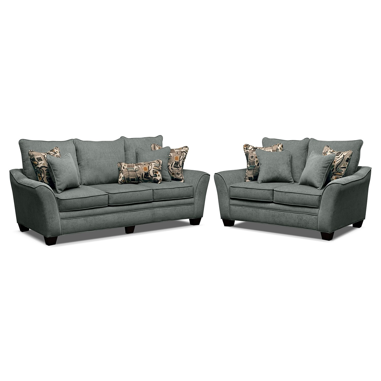 Living Room Furniture - Mandalay II 2 Pc. Living Room