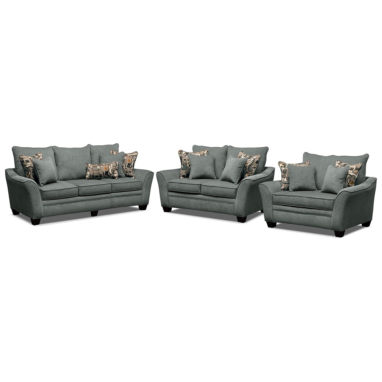 Living Room Furniture - Mandalay II 3 Pc. Living Room