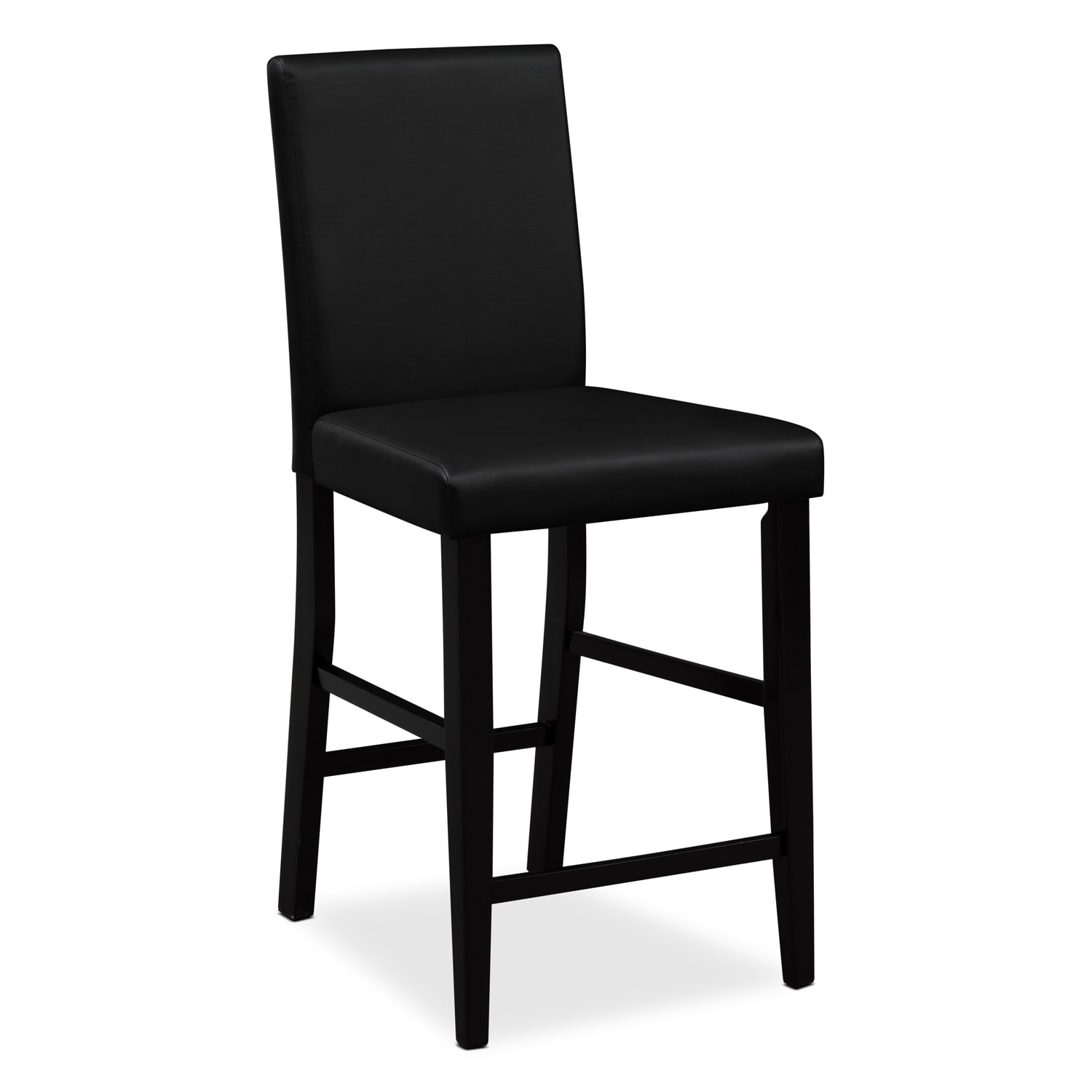 Dining Bar Stools: Shadow Counter-Height Stool - Black