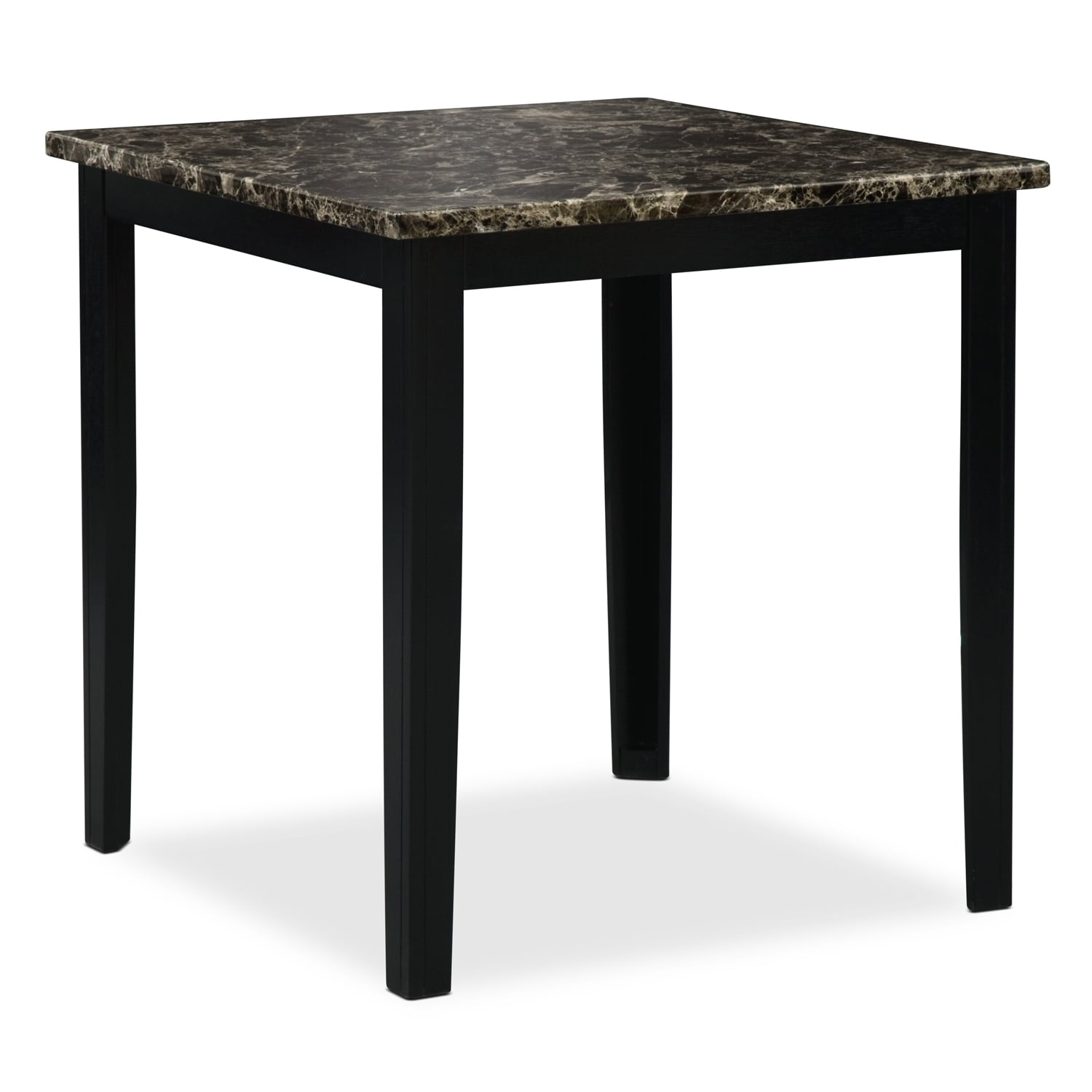 Dining Room Furniture - Shadow Counter-Height Dining Table - Black