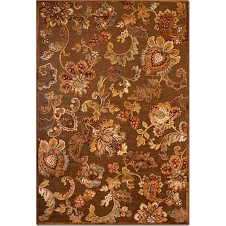 Napa Meadow 5' x 8' Area Rug - Medium Brown and Rust