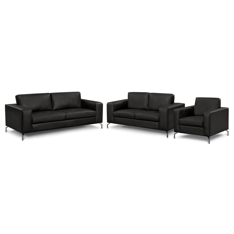 Living Room Furniture - Casino II 3 Pc. Living Room