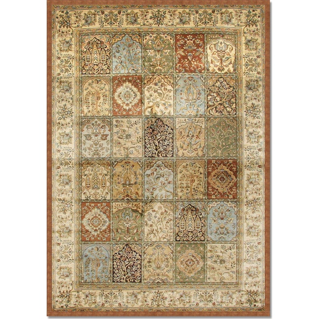 Rugs - Sonoma Mosaic 5' x 8' Area Rug - Rust and Sage