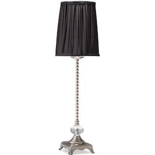 Black Glass Buffet Lamp