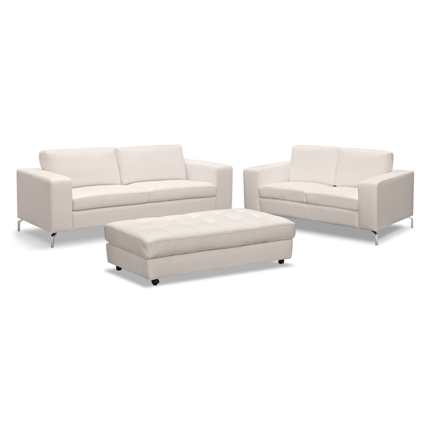 Casino 3 Pc. Living Room w/Cocktail Ottoman