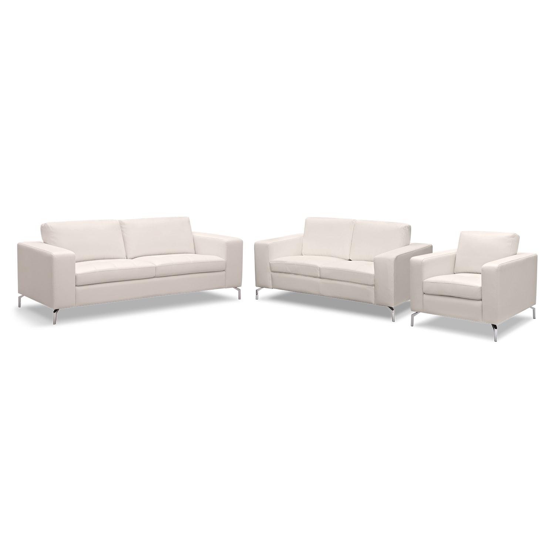 Living Room Furniture - Casino 3 Pc. Living Room
